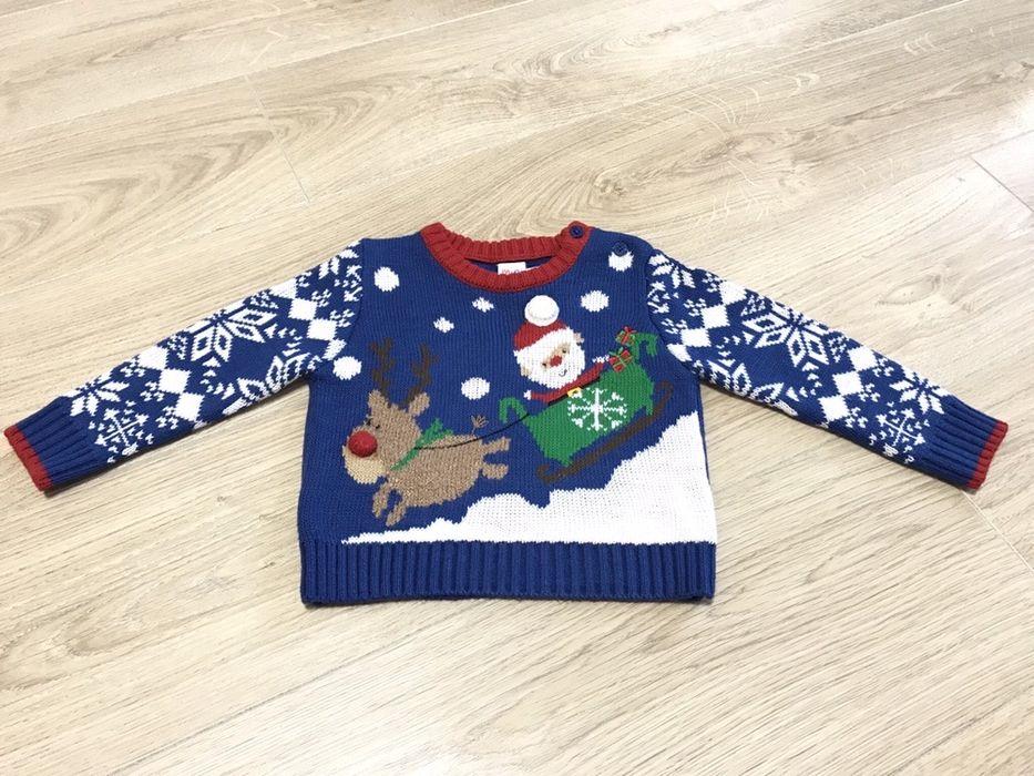 HM теплый зимний новогодний фирменный свитер M&Co mini club Харьков - изображение 1
