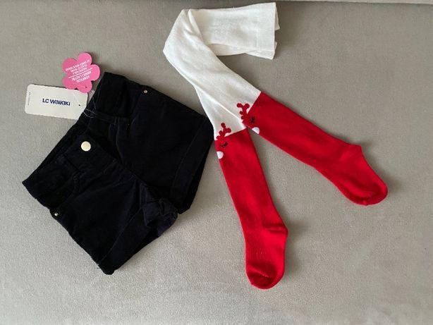 Комплект Вельветовые шорты и колготы LC Waikiki