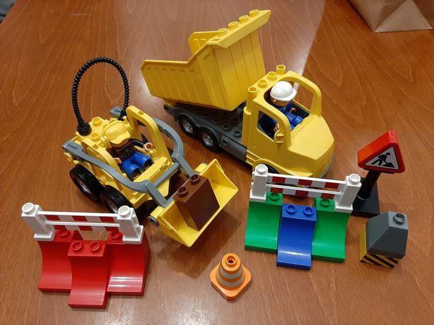 Lego Duplo wywrotka + koparka, budowa