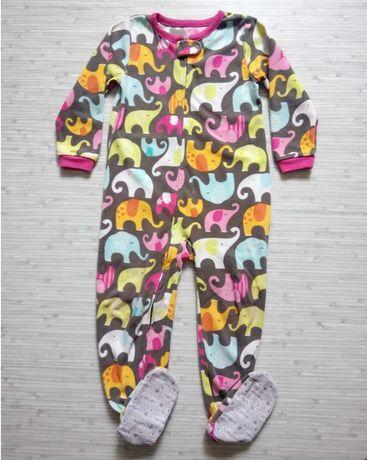 р.4т 98-105см флисовый человечек слип пижама Картерс для девочки