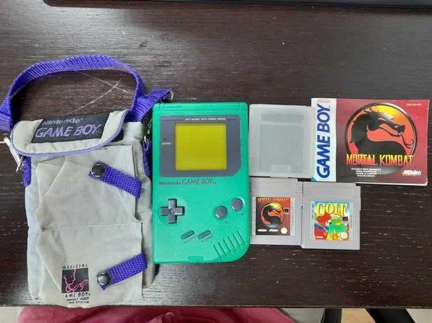 Game Boy DMG Verde + jogos