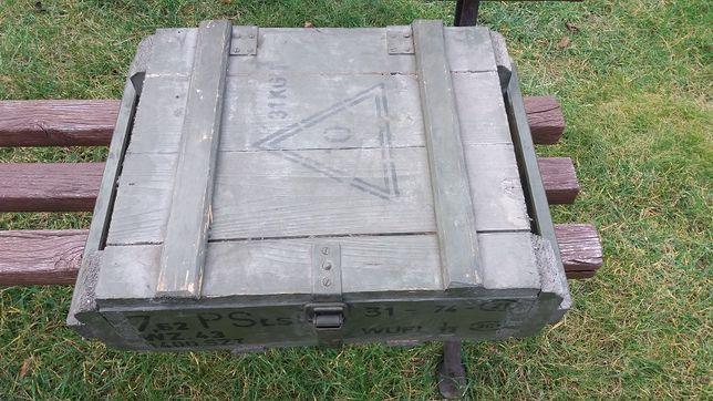 Skrzynka na amunicję drewniana