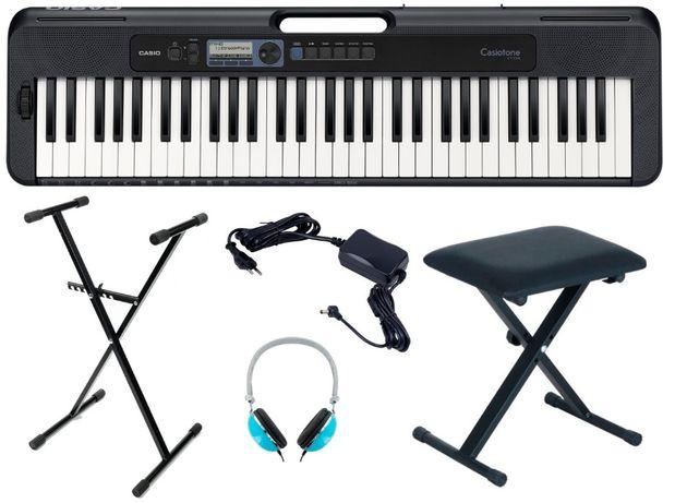 Keyboard Casio CT S300 Dance Music zestaw ŁAWKA STATYW SŁUCHAWKI