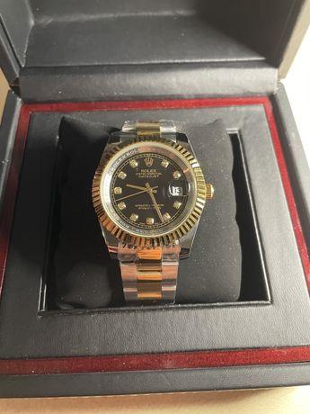 Rolex DateJust Black 40mm Srebrny \ Złoty Pasek