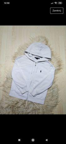 Biala bluza z kapturem Polo Ralph Lauren S