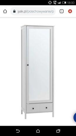 Szafa biała z lustrem wąska JYSK dla dziewczynki