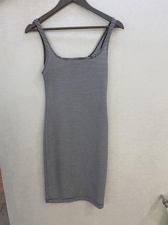 Новое полосатое платье Zara, платье в горох