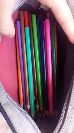 Estojo com lápis de cor