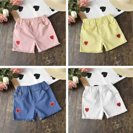 Детские джинсовые шорты на девочку