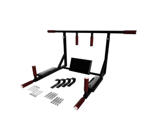Турник-брусья-пресс 4 в 1 усиленный (до 400 кг)Разборной, белый/черный