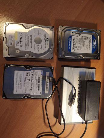 4 dyski HDD po 1-ej dysze z obudową w gratisie. Szczegóły w opisie.