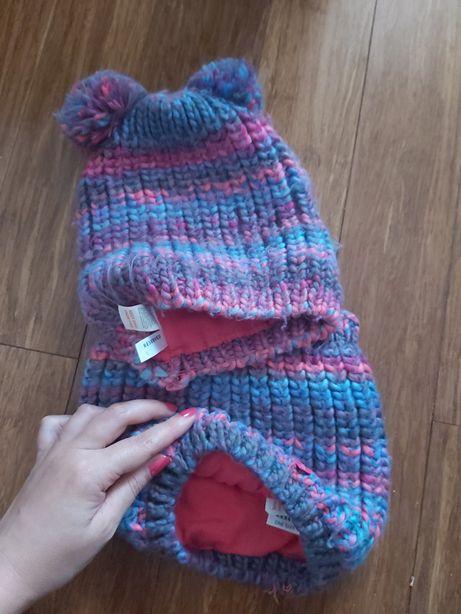 Reserved czapka I komin zima na polarze