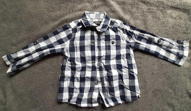 Koszula chłopięce kratka roz 74