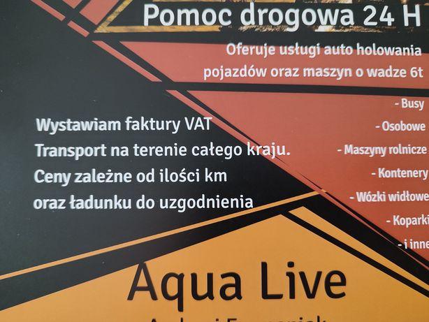 Pomoc Drogowa 24h Holowanie Laweta Transport 6T