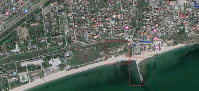 Участок у моря с причалом Одесса - Крыжановка