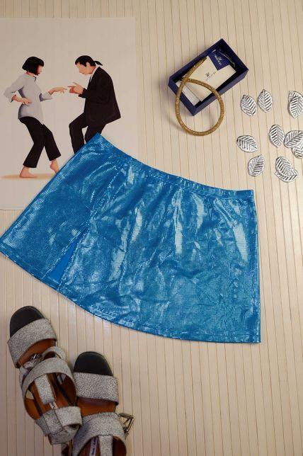 Юбка женская для танцев Австрия go-go pole dance синяя короткая