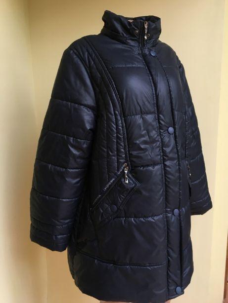 Красивое теплое пальто осень зима размер 50-52 xl xxl