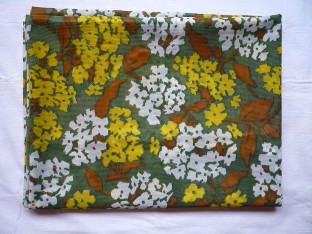 Materiał 307cm x 113cm tkanina kupon kwiatki kolorowe lejący