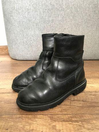Демисезонные ботинки кожаные каблук Томаса сапожки