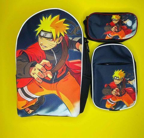 Наруто школьный рюкзак, сумка и пенал для мальчика от произв.