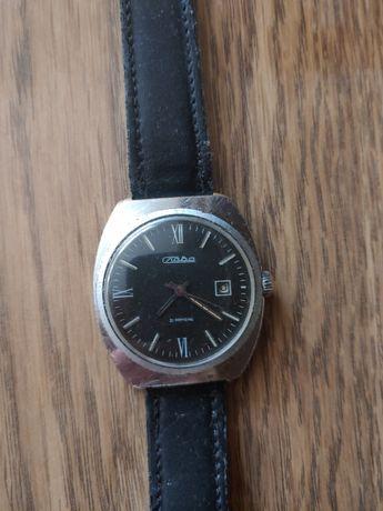 Zegarek Slava 21 jewels z datownikiem sprawny