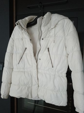 Kurtka biała ciepła H&M 36/38 narty