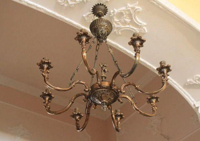 Люстра бронзова з Європи / светильник с Италии / лампа бронза