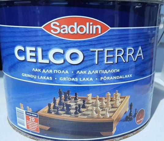 Лак для пола CELCO TERRA 20 Sadolin полумат 10 л