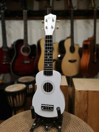 Ever Play UK-21 WH białe matowe ukulele sopranowe UK21