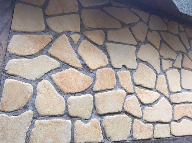 плашка галтованная Ямпольский песчаник с пиленной поверхностью. Киев