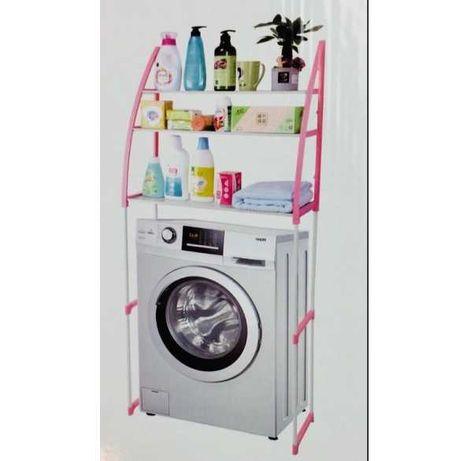 Полка-стеллаж напольная над стиральной машиной WM-63 Розовая