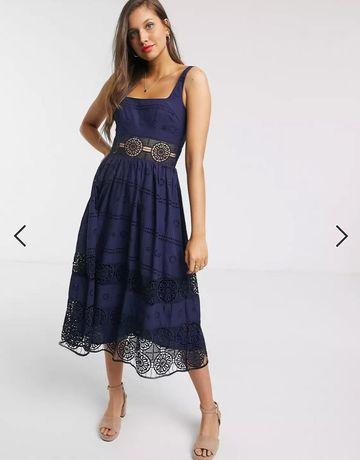 Vestido de Cerimónia ASOS Azul