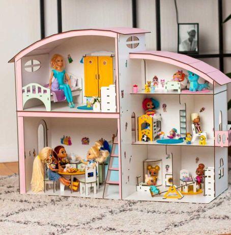 дабл дом румбокс кукольный домик барби лол обставлен мебелишкой куклы