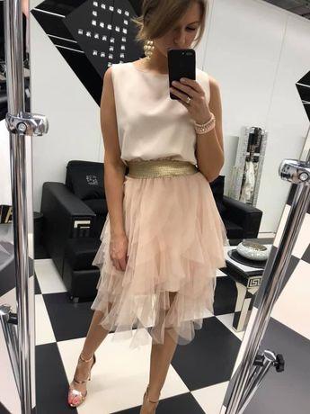 СУПЕР ЦЕНА Шикарное нарядное персиковое платье Paparazzi fashion Польш