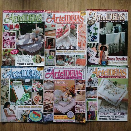 Lote 6 revistas Arte Ideias