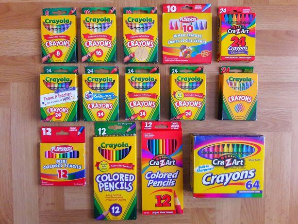 Crayola Cra-z-art Playskool Восковые Карандаши 8 10 12 16 24 64 Мелки