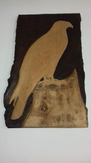 płasko rzeżba drewniana