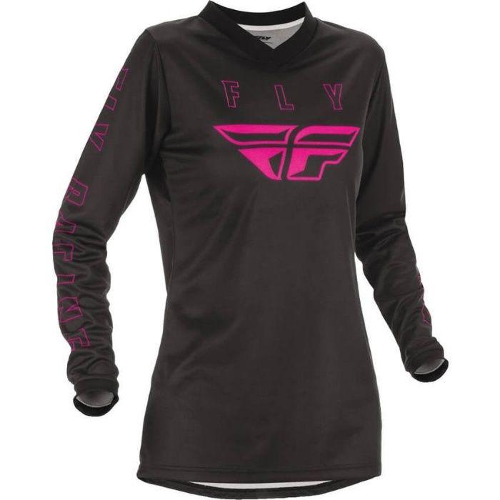 NOWA!!! Koszulka FLY Racing F-16 WMN /CZARNY RÓŻOWY/ MX21