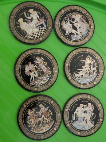 Посуда Греция золото 24 карата ручная работа