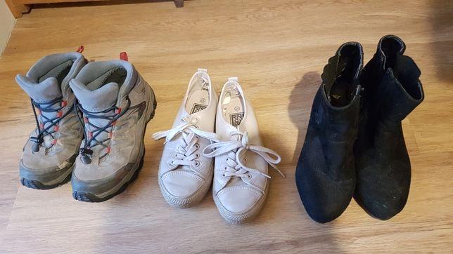3 pary butów damskich 37