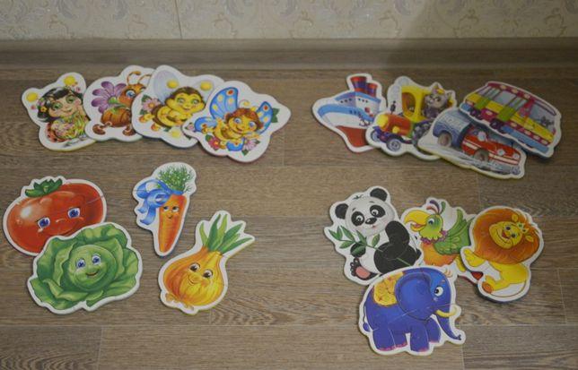 Мягкие большие пазлы (игрушка, животные,овощи, транспорт, насекомые)