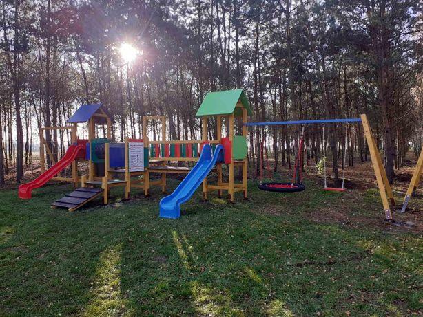 Plac zabaw Leśny Zestaw zabawowy na publiczne i prywatne place zabaw