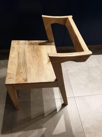 4 krzesła Skandi drewno mango