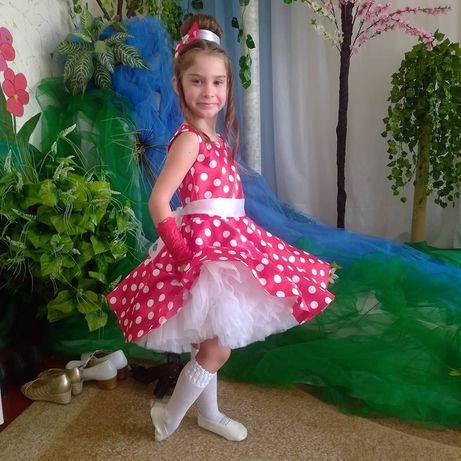 Платье Стиляги,красное платье,пышное платье,прокат платья