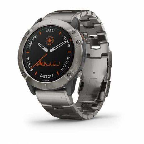 Годинник для мультиспорту Garmin Fenix 6X Titanium