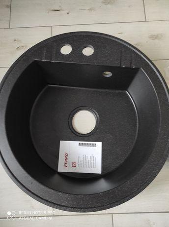 Zlewozmywak granitowy czarny 51cm ferro