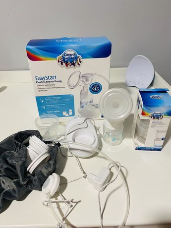 Laktator Easy Start Electric Breast Pump Canpol + pojemniczki