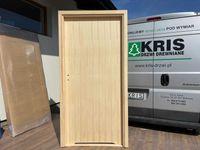 Drzwi wewnętrzne drewniane gładkie zawiasy bezprzylgowe OD RĘKI