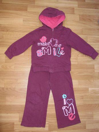 Трикотажный костюм хлопок для девочки 4-5 лет