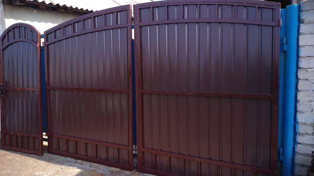 Сварочные работы. Стяжка домов металлическим каркасом. Ворота , заборы